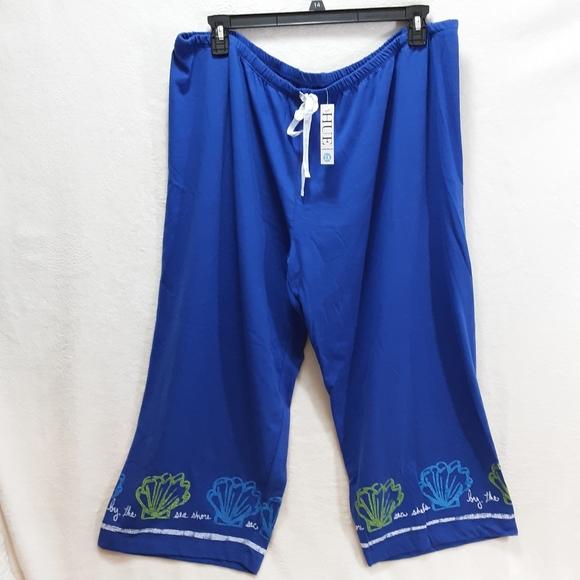 Hue Sleepwear Pants Plus Size 2X Shell Theme